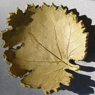 Art: Autumn Leaf by Artist Deborah Sprague