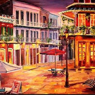 Art: A Corner in Jackson Square - SOLD by Artist Diane Millsap