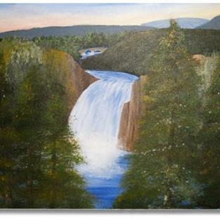 Art: Lower Falls of Yellowstone - sold by Artist Shari Lynn Schmidt