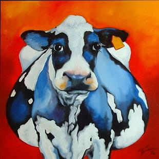 Art: MY FAT COW by Artist Marcia Baldwin