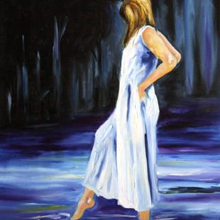 Art: Wading by Artist Laurie Justus Pace