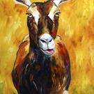Art: Say Cheese ...Goat Cheese by Artist Laurie Justus Pace