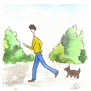 Art: OUT FOR A WALK by Artist Dawn Barker