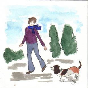 Art: OUT FOR A WALK 3 by Artist Dawn Barker