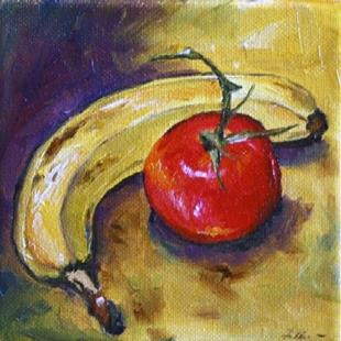 Art: Banana and Tomato by Artist Laurie Justus Pace