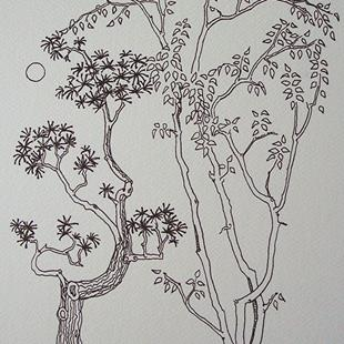 Art: tree study #10 by Artist Angie Reed Garner