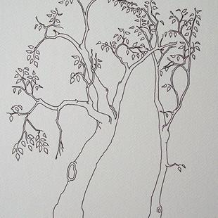 Art: tree study #11 by Artist Angie Reed Garner