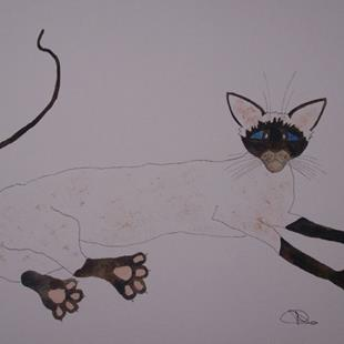Art: SIAMESE CAT by Artist Dawn Barker