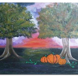Art: Pumpkin Patch by Artist Shari Lynn Schmidt