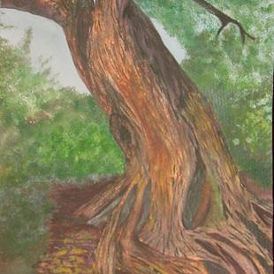Art: Gnarled Tree by Artist Donna Gill