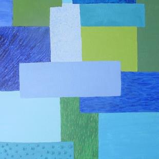Art: Summer (Seasons Color Block Series) by Artist Donna Gill