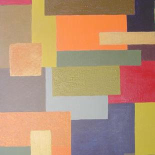 Art: Autumn (Seasons Color Block Series) by Artist Donna Gill