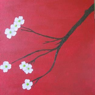 Art: Dogwood by Artist Donna Gill