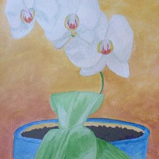 Art: Dad's Orchids by Artist Donna Gill