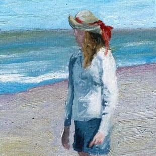Art: Straw Hat on a Sunny Day by Artist Deborah Sprague