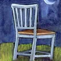 Art: Chair Watching the Moon Rise by Artist Catherine Darling Hostetter