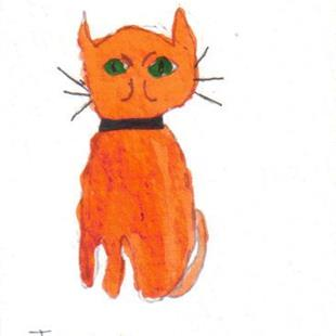 Art: Joshua's cat 3 by Artist Dawn Barker