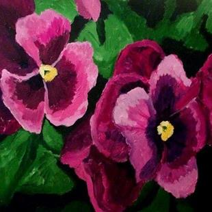 Art: Some pansies by Artist Mats Eriksson