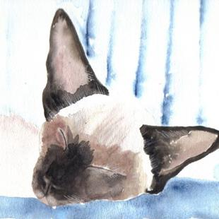 Art: SIAMESE CAT c901 by Artist Dawn Barker
