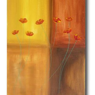 Art: Poppies Abstract by Artist Eridanus Sellen