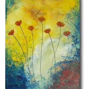Art: Spatter Poppies by Artist Eridanus Sellen