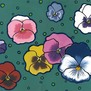 Art: Pansies by Artist Cary Dunlap Daly