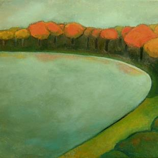Art: Fall By the Lake by Artist Elizabeth Fiedel