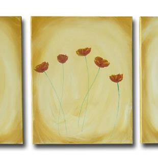 Art: Cute Poppy Triptych by Artist Eridanus Sellen