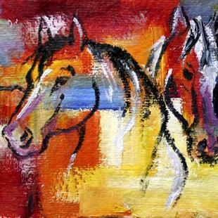 Art: Fall Ponies One OSWOA by Artist Laurie Justus Pace