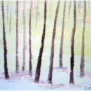 Art: TREES IN SNOW-SOLD by Artist LUIZA VIZOLI