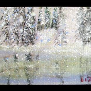 Art: SNOWY VIEW-SOLD by Artist LUIZA VIZOLI