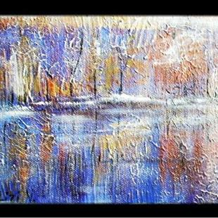 Art: LAKE IN WINTER-sold by Artist LUIZA VIZOLI