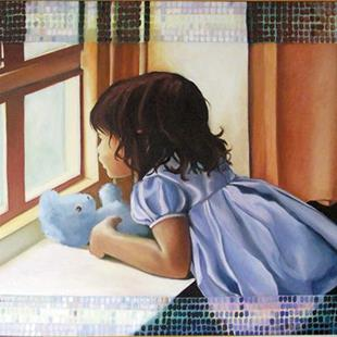 Art: Blue Teddy by Artist Muriel Areno