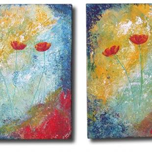 Art: Poppies Diptych by Artist Eridanus Sellen
