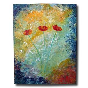 Art: Textured w/ Poppies by Artist Eridanus Sellen