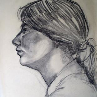 Art: Untitled (profile) by Artist Muriel Areno