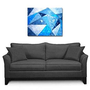 Art: Abstract In Blue by Artist Shirley Inocenté