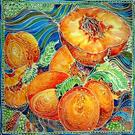 Art: PEACHES BATIK I by Artist Marcia Baldwin