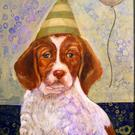 Art: The Striped Party Hat by Artist Catherine Darling Hostetter