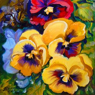 Art: PRETTY PANSIES by Artist Marcia Baldwin