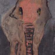 Art: Elephant, preparing for his significant role as a moth by Artist Gabriele Maurus