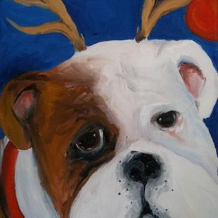 Art: Santas Helper by Artist Deborah Sprague