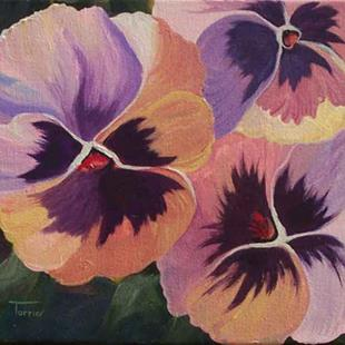 Art: Pansies  by Artist Torrie Smiley