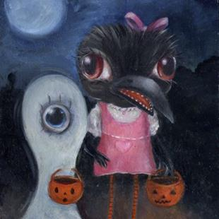 Art: Trick or Treat! by Artist Vicky Knowles