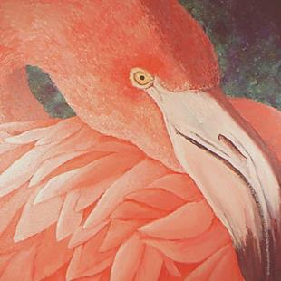 Art: Flamingo (Private Collection) by Artist Kimberly Vanlandingham