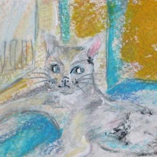 Art: Sally's Cat, SOLD by Artist Delilah Smith