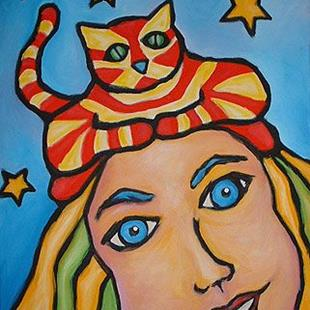 Art: The Cat IS The Hat by Artist Lindi Levison