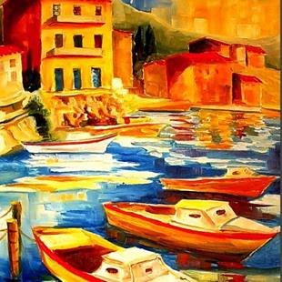 Art: Sunny Harbor by Artist Diane Millsap