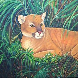 Art: Florida Panther by Artist Ulrike 'Ricky' Martin