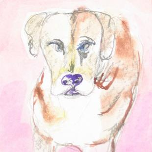 Art: Dog , SOLD by Artist Delilah Smith